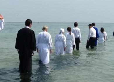 Foto botez in Marea Neagra